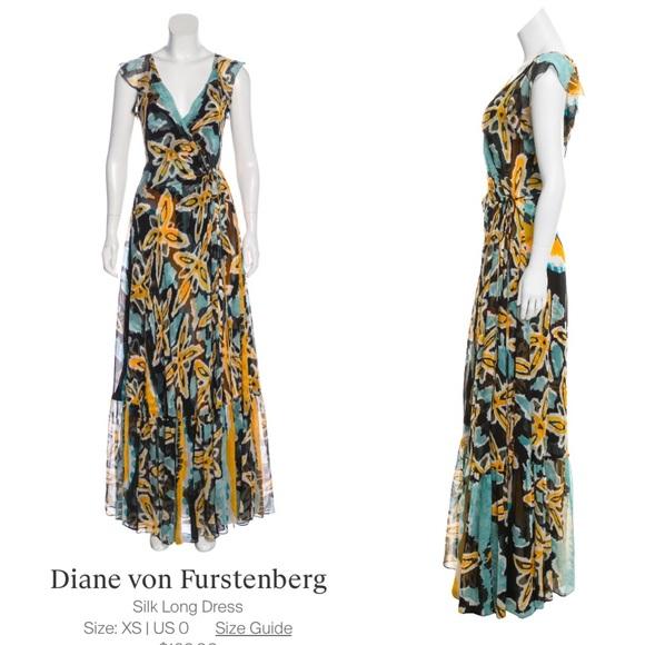 Diane Von Furstenberg Dresses & Skirts - Diane Von Furstenberg Silk Summer Maxi Dress